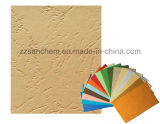 Papier gravé en relief par graines en cuir colorées avec la qualité grande