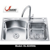 Ol-8245ha Ouert Strecting todo doble lavabo de acero inoxidable