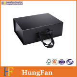 Cadre de papier se pliant plié pliable de module de luxe noir de cadeau