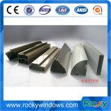 La poudre a enduit le profil en aluminium personnalisé par bâti d'extrusion pour le guichet