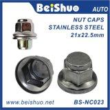 Hot Sales Cubierta de tornillo de eje de rueda de acero inoxidable / Lug Nut Cover