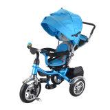 Bébé de tricycle de bicyclette de 2017 enfants avec la vente en gros tournante de portée