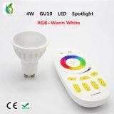 GU10 WiFi de la décoration 4W RGBW de Noël de projecteur du WiFi RVB DEL et lumière à télécommande d'endroit de DEL
