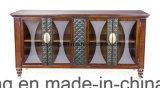 Meuble classique en chandelier en cuir Chesterfield