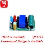 excitador pequeno Non-Isolated QS1310 da câmara de ar do diodo emissor de luz do plugue do tamanho de 6-20W Hpf
