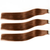 "18 "" 20 "" 22 "" 24 "" 4X0.8cm 100g/Pack Invisible Double Drawn 브라질 Ombre 인도 Remy Wholesale Cheap Curly Tape Hair Extensions"