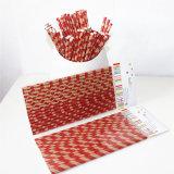 Buntes Kraftpapier Paper Drinking Straw mit Different Designs für Party