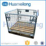 Stapeln des zusammenklappbaren Metallladeplatten-Rahmens
