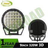 9inch 3D indicatore luminoso di azionamento fuori strada rotondo del CREE 320W IP68 LED