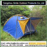 3-4 barraca de acampamento branca impermeável da ponte dobro do jardim da pessoa