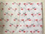 Papier de soie de soie coloré et blanc estampé de Mf pour l'emballage