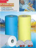 Papier für selbstklebendes Material freigeben