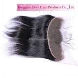 Frontal шнурка Unprocessed человеческих волос девственницы естественный черный индийский