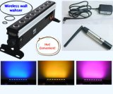 8X8w bateria sem fio com controle remoto remoto DMX Stage Light LED Wall Washer Light