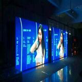 El acceso de P4.81front a presión la pantalla de visualización de interior de LED del alquiler de la cabina de la fundición