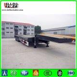 40-60ton 3 Aanhangwagen van het Bed van de Aanhangwagen van de Vrachtwagen van de As de Lage Flatbed Verlengbare Lage