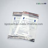 Sac en aluminium rescellable de blocage de fermeture éclair de sac en plastique clair de tirette de PE
