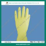 Медицинские устранимые простерилизованные перчатки Ce и ISO латекса хирургические
