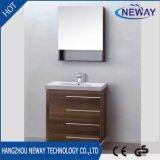 Nouvelle conception Mélamine Vanité de salle de bain moderne avec miroir
