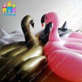 Aufblasbare goldene Schwan-Luft-Flamingo-Wasser-Einhorn-Pegasus-Pool-Gleitbetriebe