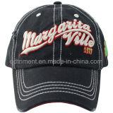 Gorra de béisbol metálica lavada manera del bordado del Rhinestone (TRSDB08)