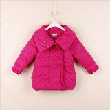 子供の服装のために吹スリーブを付けられるの西部の女の子のコート