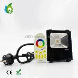 10W RGBW proyector LED Compatible con el puente de WiFi IP65, Jardín de luz RGB+blanco cálido, con 3 años de garantía