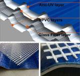 シートを使用してファイバーガラスの耐衝撃性の増加の屋根