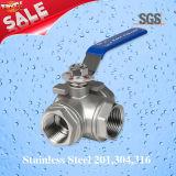 Шариковый клапан 3 дорог, нержавеющая сталь 201, 304, шариковый клапан 316