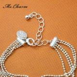 Juwelen van de Bruid van het Kristal van de Meisjes van de Vinger van de Ketting van de Hand van de armband de Zilver Geplateerde