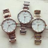Reloj analogico promocional de la venda de elástico del cuarzo con Japón Movt