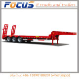 reboque de Lowboy Lowbed do Gooseneck do transporte da máquina escavadora 3axles Semi