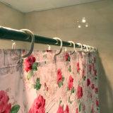 Il fiore PEVA della Rosa impermeabilizza la tenda di acquazzone per la stanza da bagno