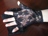 Черные перчатки Fingerless&Sexy Keyhole шнурка (GL004)