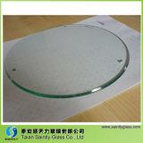 2mm 3.2mm 4mmの緩和されたガラスは照明のための明確なフロートガラスシートのパネルのあたりで強くなった端を磨いた