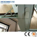 Roomeye weißes Farben-Doppelt-Glasvinyl-Belüftung-Flügelfenster Windows für Hauptgebäude