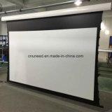 La buona qualità sottoposta rotola in su lo schermo di proiezione elettrico bianco nero