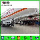 반 3axle 45000liters 탄소 강철 기름 연료 판매를 위한 디젤 엔진 탱크 트레일러