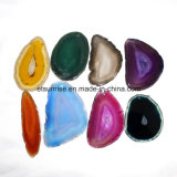 Rebanadas de la ágata del color de la mezcla de la piedra preciosa semi