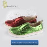 方法新しいコレクションのViret PVC足底が付いている上部PUの女性の靴