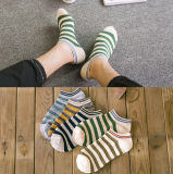 Sprung-Herbst-Boots-Socken der gestreiften Baumwollform-Großverkauf-Männer