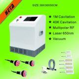 Tela de toque de 8 polegadas 6 650nm Laser Slim Handle 3 Cavitação intermitente RF Cabeça 1 Máquina de vácuo H-1000c