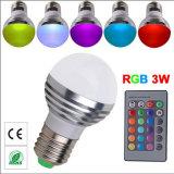 Lumières changeantes de vacances des ampoules E27 E14 B22 GU10 MR16 Gu5.3 de couleur à télécommande de RVB DEL pour des lampes d'usager