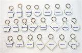 記念品のキーホルダーの昇華印刷できる中心の形MDF Keychain