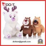Het witte Stuk speelgoed van de Teddybeer van de Pluche van het Rendier met de Poot van het Borduurwerk