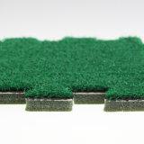 Блокируя искусственная лужайка синтетики плитки травы
