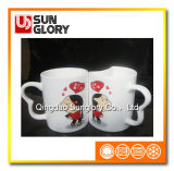 Kunst-Griff-Porzellan-Paar-Cup Qlb007