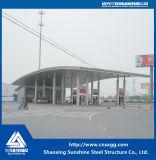 싼 Prefabricated 가벼운 강철 구조물 주유소