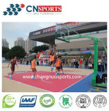 Si-PLUTÔNIO campo de básquete ao ar livre, corte dos esportes do teste padrão de madeira da textura