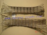 Сетка Ss загородки сетки веревочки нержавеющей стали зверинца сплетенная гибким трубопроводом